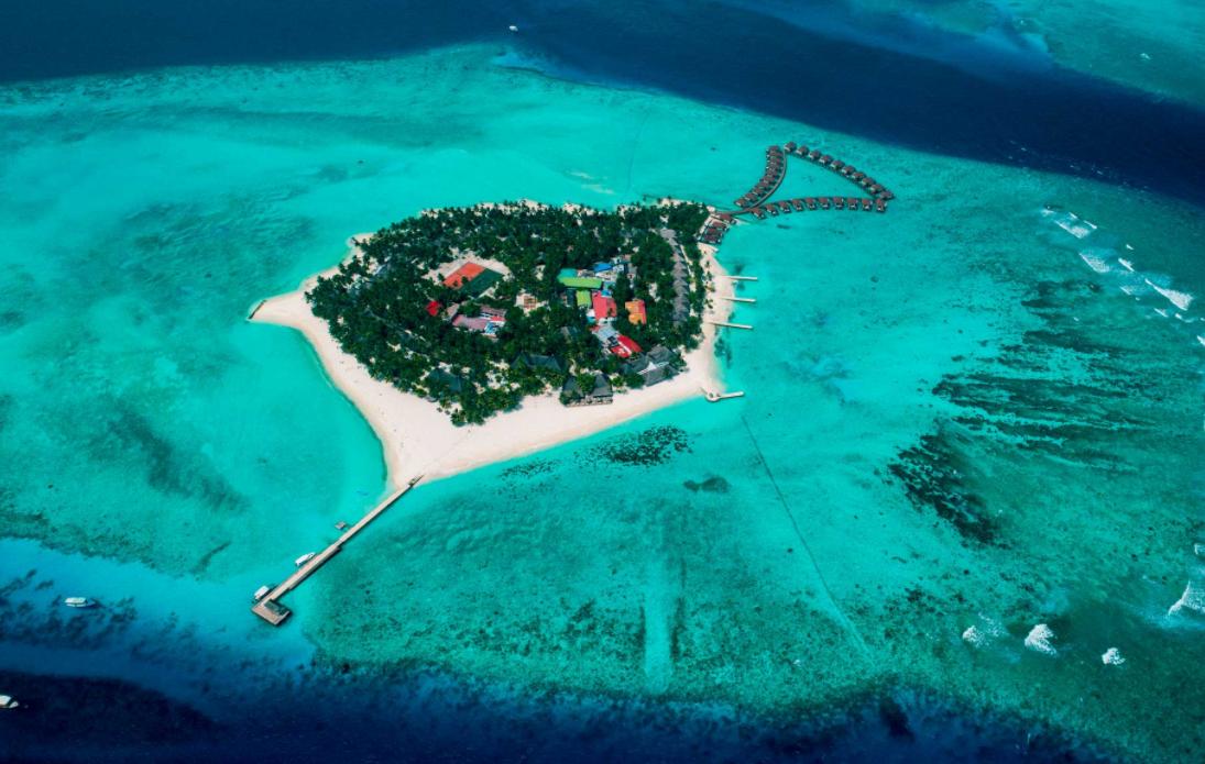 安利玛莎 Alimatha Aquatic Resort  鸟瞰地图birdview map清晰版 马尔代夫