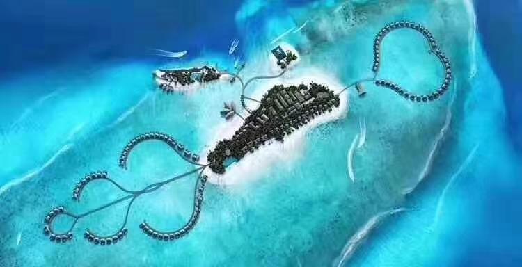 丽笙度假酒店 Radisson Blu Resort Maldive 鸟瞰地图birdview map清晰版 马尔代夫