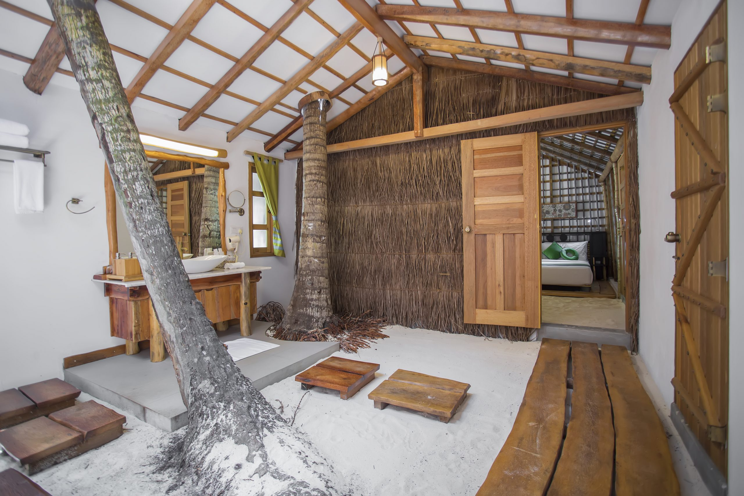 房型内部设施图片参考,如无边泳池与电视及音响, 花园房-Kotari maldievs(艾菲伊自然度假岛 AaaVeee Nature
