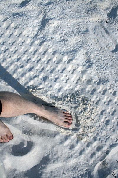 雪白的沙滩