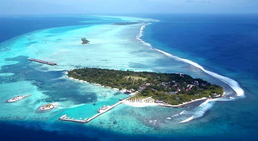 白金岛|大劳力士岛 Adaraan Hudhuranfushi 鸟瞰地图birdview map清晰版 马尔代夫