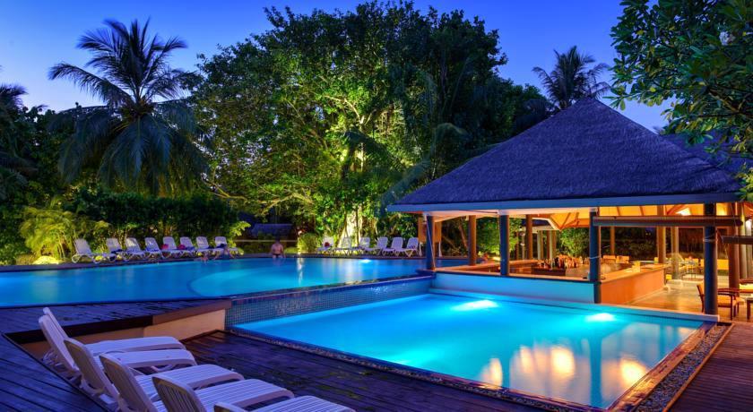 白金岛|大劳力士岛 Adaraan Hudhuranfushi ,马尔代夫风景图片集:沙滩beach与海水water太美,泳池pool与水上活动watersport好玩