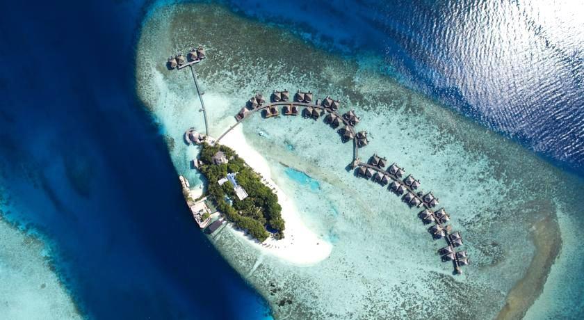 瓦度岛 Adaaran Vadoo 鸟瞰地图birdview map清晰版 马尔代夫