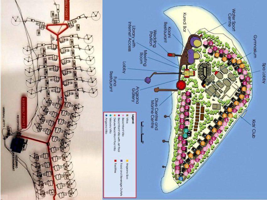 马尔代夫 AV岛|薇拉瓦鲁岛|海龟岛 angsana velavaru 平面地图查看
