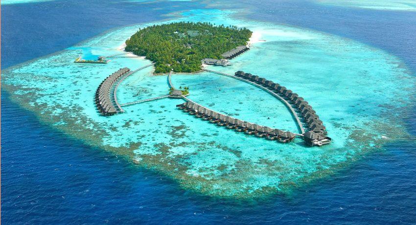 阿雅达岛 Ayada Maldives 鸟瞰地图birdview map清晰版 马尔代夫