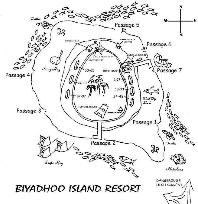 马尔代夫 白雅湖岛|比亚度 Biyadhoo Island 平面地图查看