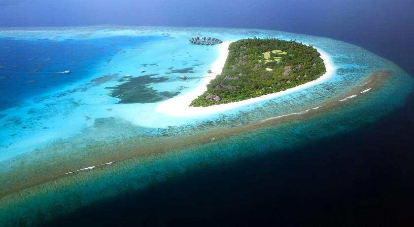 杜尼可鲁岛(可可棕榈杜妮) Coco Palm Dhuni Kolhu 鸟瞰地图birdview map清晰版 马尔代夫