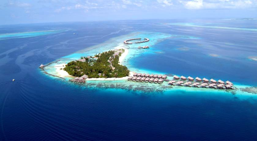 波杜希蒂岛 Coco Palm Bodu Hithi 鸟瞰地图birdview map清晰版 马尔代夫