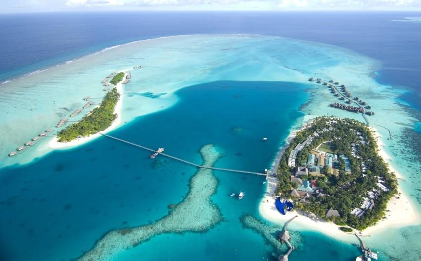 港丽岛 Conrad Maldives Rangali 鸟瞰地图birdview map清晰版 马尔代夫