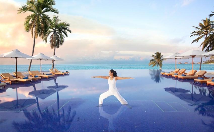 港丽岛 Conrad Maldives Rangali ,马尔代夫风景图片集:沙滩beach与海水water太美,泳池pool与水上活动watersport好玩