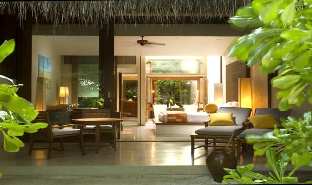房型内部设施图片参考,如无边泳池与电视及音响, 沙滩别墅-King Beach Villa maldievs(港丽岛 Conrad Maldives Rangali)