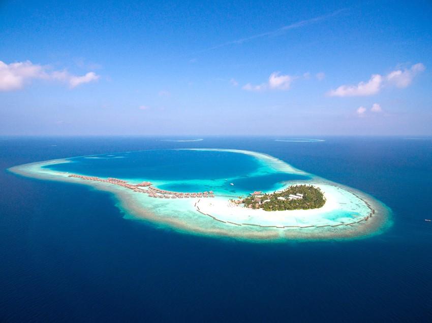 哈拉薇利岛 Constance Halaveli 鸟瞰地图birdview map清晰版 马尔代夫