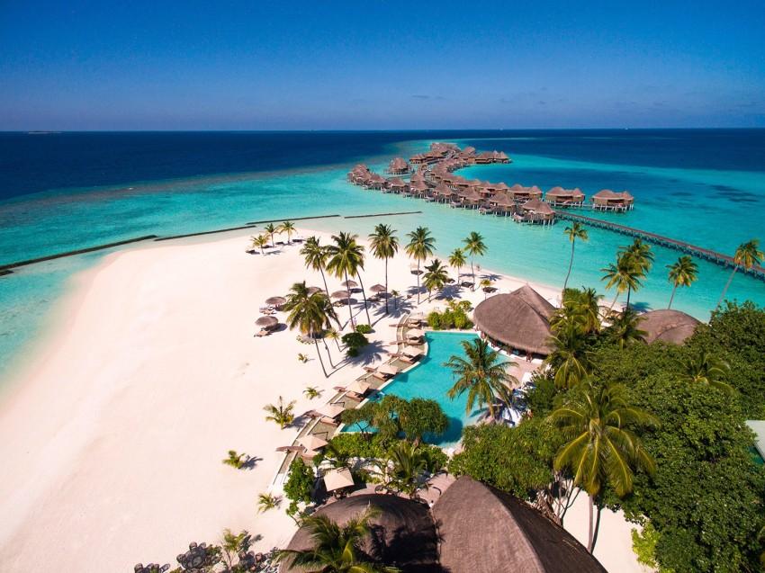 哈拉薇利岛 Constance Halaveli ,马尔代夫风景图片集:沙滩beach与海水water太美,泳池pool与水上活动watersport好玩