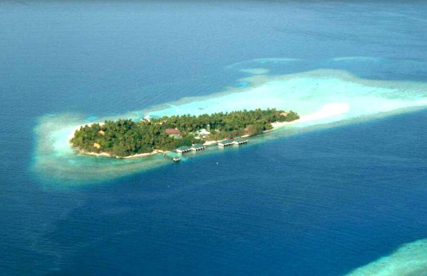 艾布度岛|茵布度 Embudu 鸟瞰地图birdview map清晰版 马尔代夫