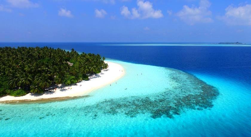 菲哈后岛 Fihalhohi Island Resort 鸟瞰地图birdview map清晰版 马尔代夫