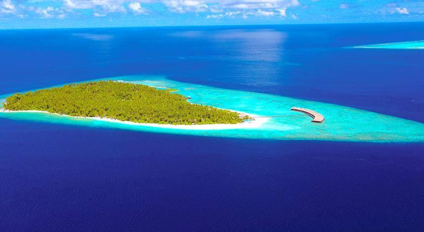菲利西澳岛 Filitheyo Island Resort 鸟瞰地图birdview map清晰版 马尔代夫