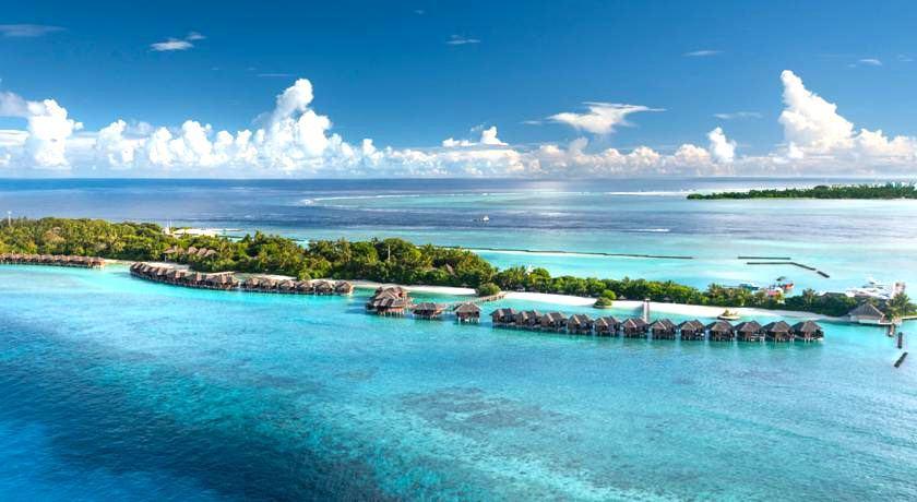 喜来登满月岛|满月岛 Full Moon 鸟瞰地图birdview map清晰版 马尔代夫