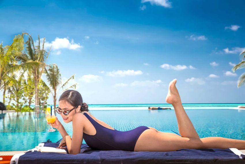 妃诺岛|翡诺岛 ClubMed Finolhu Villas ,马尔代夫风景图片集:沙滩beach与海水water太美,泳池pool与水上活动watersport好玩