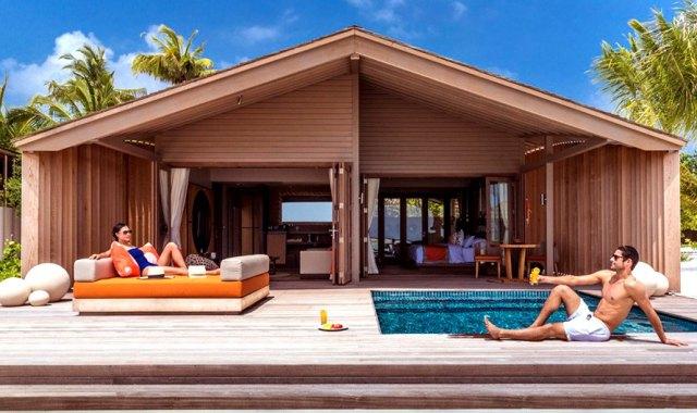 日出沙滩別墅-Sunrise Beach Villa 房型图片及房间装修风格(妃诺岛|翡诺岛 ClubMed Finolhu Villas)海岛马尔代夫