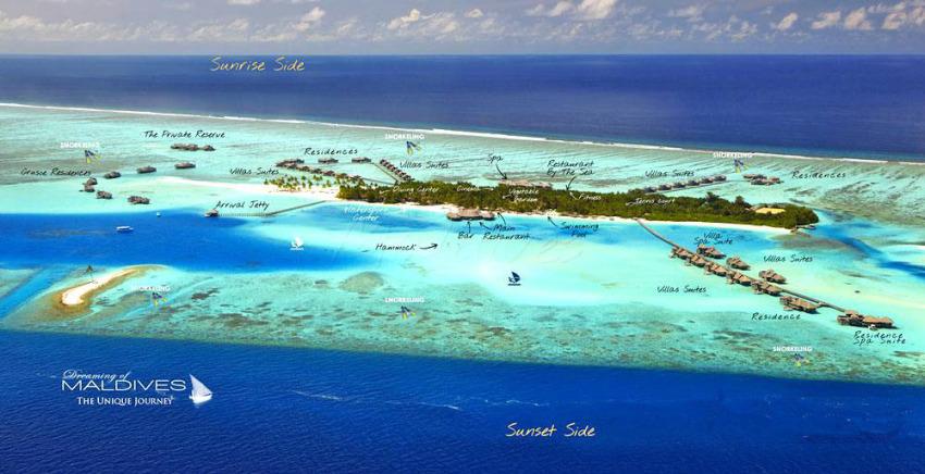 姬丽兰卡富士 Gili Lankanfushi Maldives 鸟瞰地图birdview map清晰版 马尔代夫