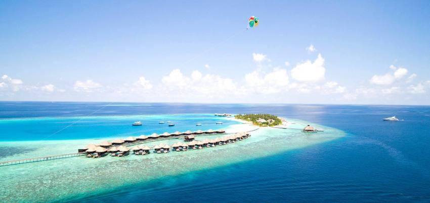 芙花芬岛|胡花芬 Huvafen Fushi 鸟瞰地图birdview map清晰版 马尔代夫