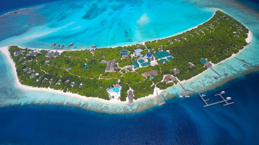 神仙珊瑚岛 Island Hideaway at Dhonakulhi 鸟瞰地图birdview map清晰版 马尔代夫