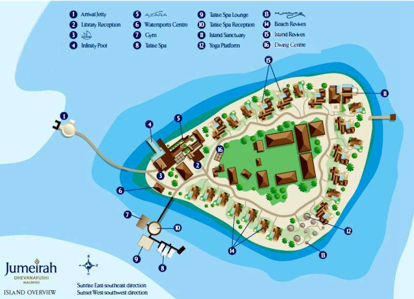 马尔代夫 德瓦娜芙希 Dhevanafushi Maldives Luxury Resort 平面地图查看