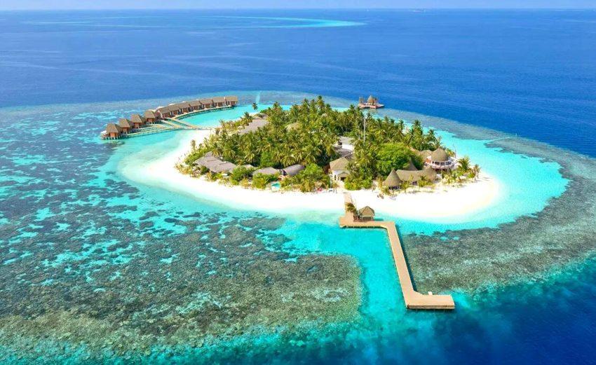 坎多卢岛 Kandolhu Maldives 鸟瞰地图birdview map清晰版 马尔代夫