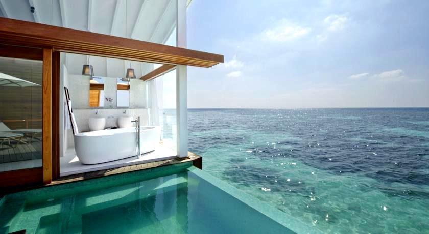坎多卢岛 Kandolhu ,马尔代夫风景图片集:沙滩beach与海水water太美,泳池pool与水上活动watersport好玩