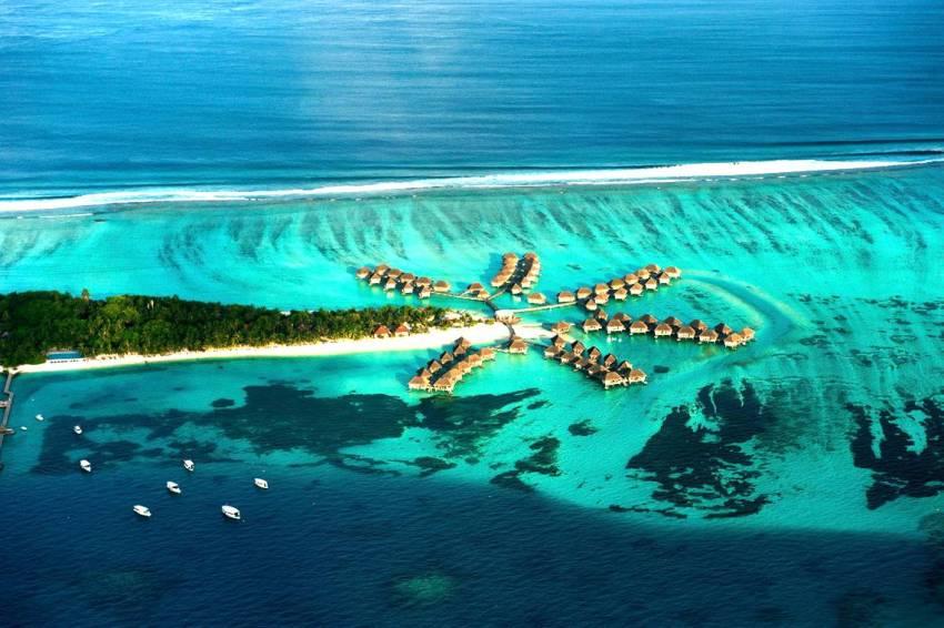 卡尼岛 Club Med Kani 鸟瞰地图birdview map清晰版 马尔代夫