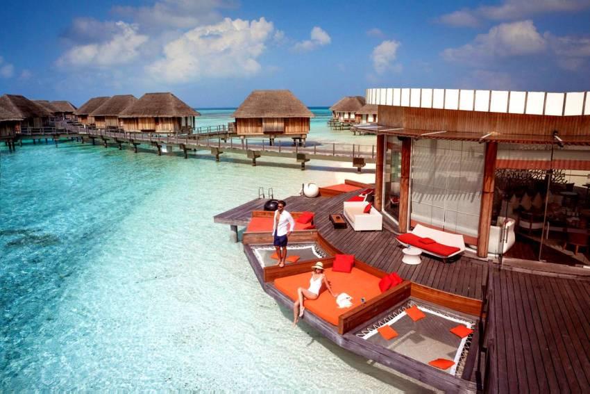 卡尼岛 Club Med Kani ,马尔代夫风景图片集:沙滩beach与海水water太美,泳池pool与水上活动watersport好玩