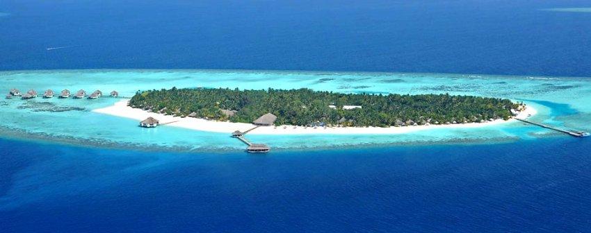 吉哈岛 Kihaa 鸟瞰地图birdview map清晰版 马尔代夫