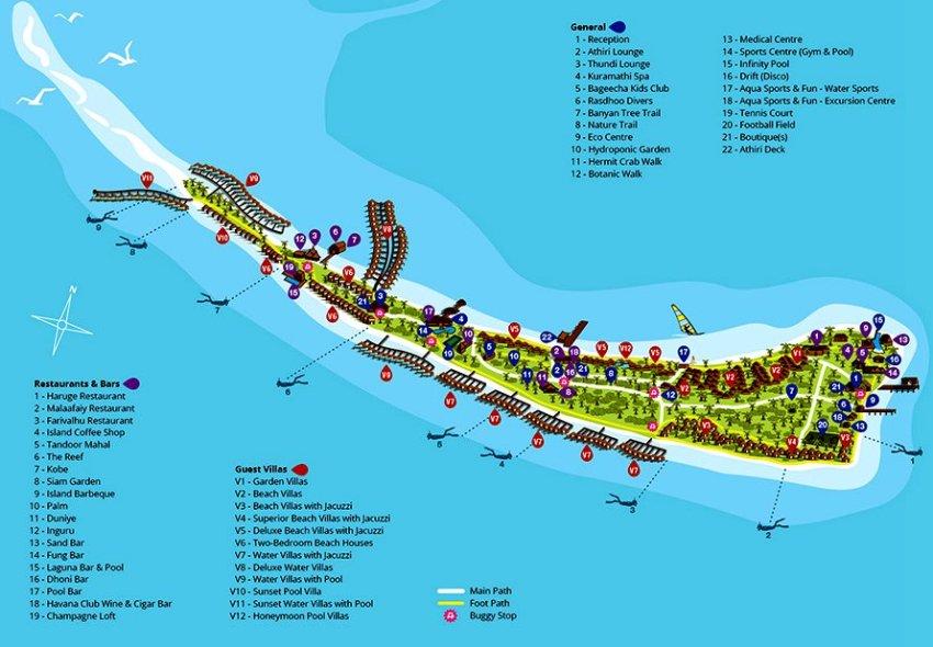 马尔代夫 库拉玛提岛|库拉马提 Kuramathi 平面地图查看