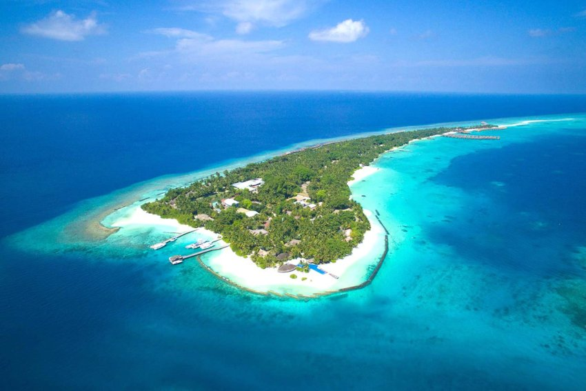 K岛|库拉玛提|库拉玛缇 Kuramathi Maldives 鸟瞰地图birdview map清晰版 马尔代夫