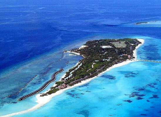 古丽都岛 Kuredu Island 鸟瞰地图birdview map清晰版 马尔代夫