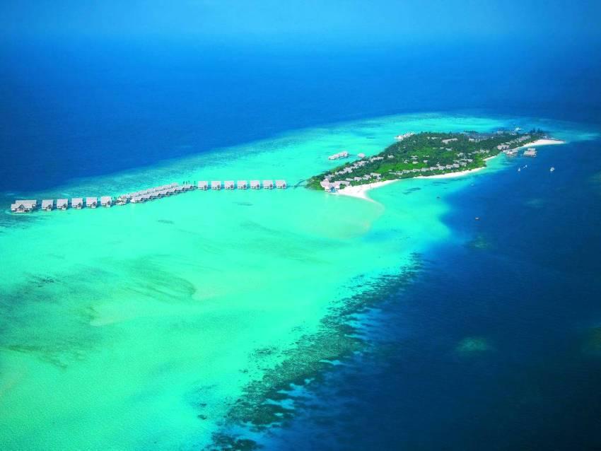 大四季-兰达吉拉瓦鲁 Fourseasons Landaa Giraavaru 鸟瞰地图birdview map清晰版 马尔代夫