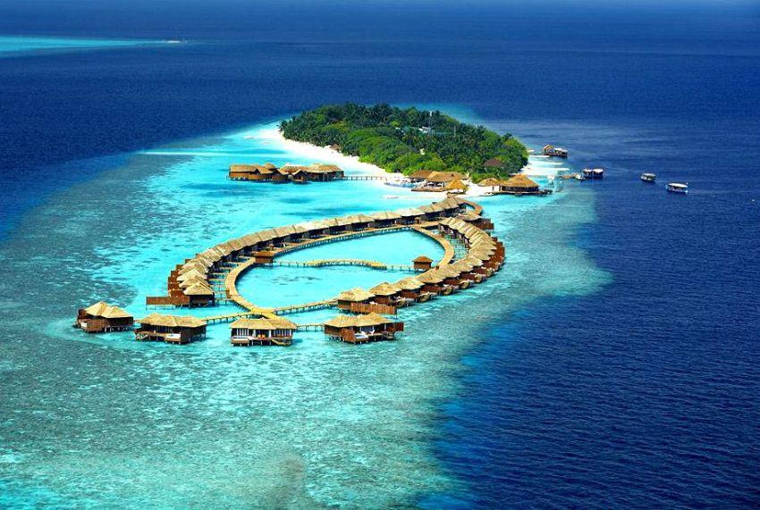 丽莉岛|莉莉岛 Lily Beach Resort 鸟瞰地图birdview map清晰版 马尔代夫