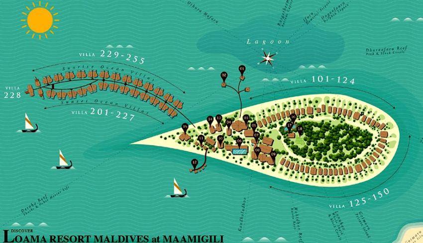 马尔代夫 洛马 Loama Maldives 平面地图查看