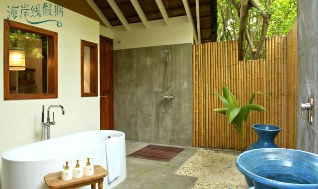 房型内部设施图片参考,如无边泳池与电视及音响, 海滩别墅-Beach Villas maldievs(洛马 Loama Maldives)