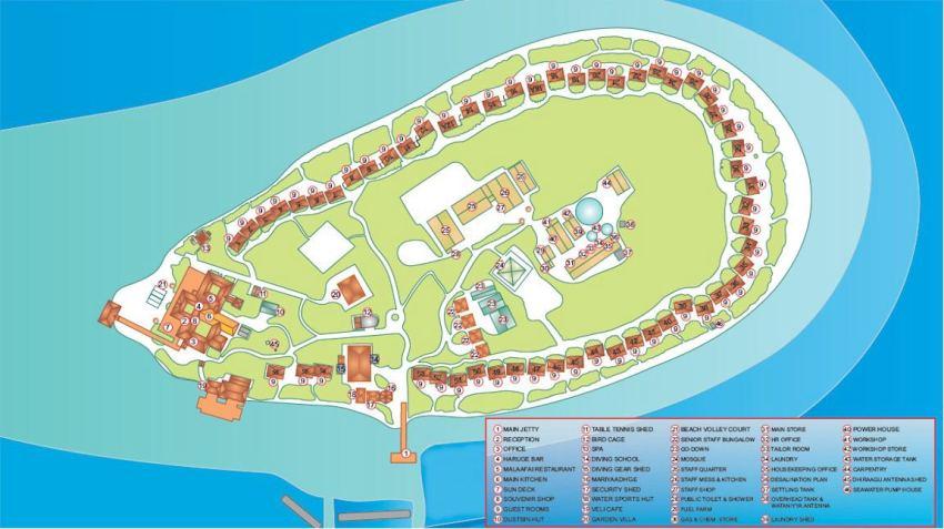 马尔代夫 马杜加里 Madoogali 平面地图查看