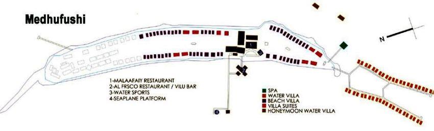 马尔代夫 曼德芙岛|曼德芙仕岛 Medhufushi 平面地图查看