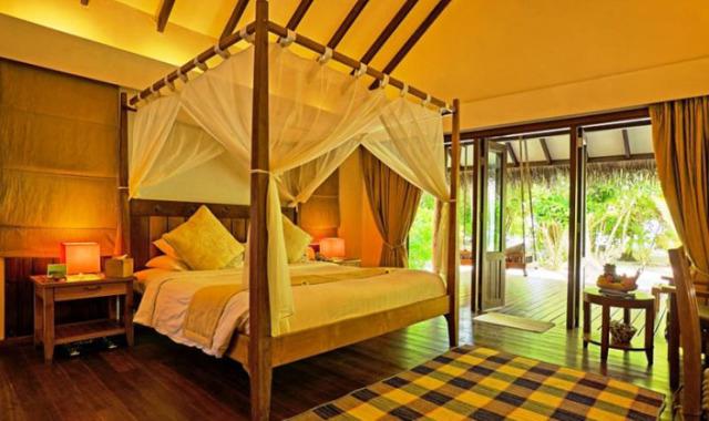 房型内部设施图片参考,如无边泳池与电视及音响, 海滩别墅-Beach Villas maldievs(曼德芙岛|曼德芙仕岛 Medhufushi)