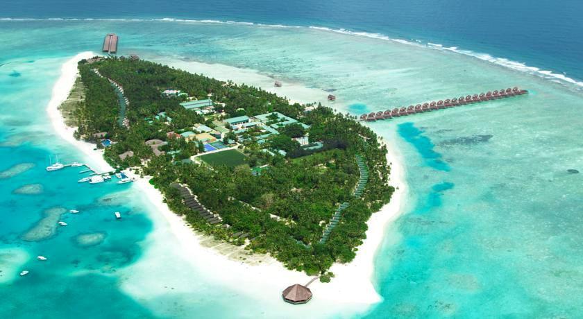 美禄岛|蜜月岛 Meeru 鸟瞰地图birdview map清晰版 马尔代夫