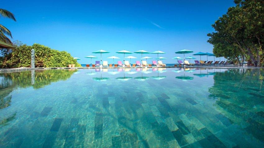 奥露岛 OBLU by Atmosphere at Helengeli ,马尔代夫风景图片集:沙滩beach与海水water太美,泳池pool与水上活动watersport好玩