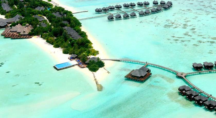 双鱼岛 Olhuveli Beach & Spa Resort 鸟瞰地图birdview map清晰版 马尔代夫