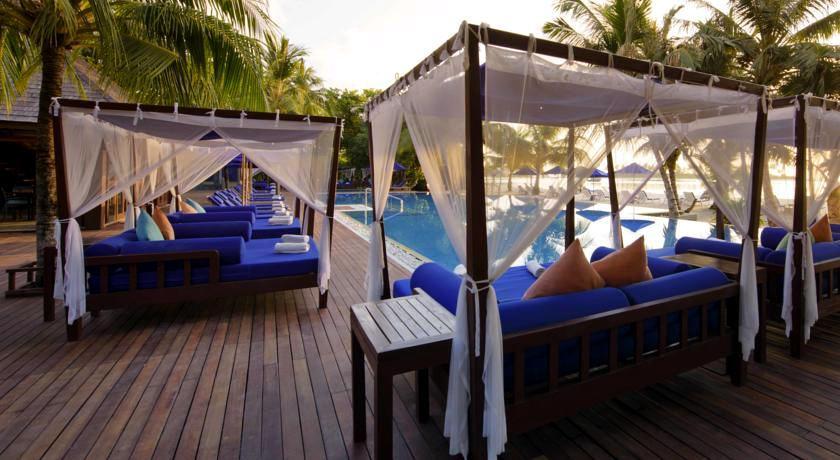 双鱼岛 Olhuveli Beach & Spa Resort ,马尔代夫风景图片集:沙滩beach与海水water太美,泳池pool与水上活动watersport好玩