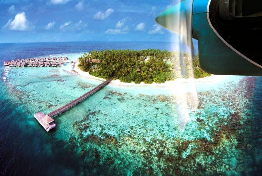 奥瑞格卡纳塔 Outrigger Konotta 鸟瞰地图birdview map清晰版 马尔代夫