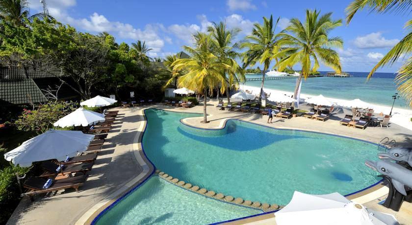 天堂岛 Paradise island ,马尔代夫风景图片集:沙滩beach与海水water太美,泳池pool与水上活动watersport好玩