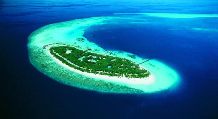 瑞提海滩 Reethi beach resort 鸟瞰地图birdview map清晰版 马尔代夫