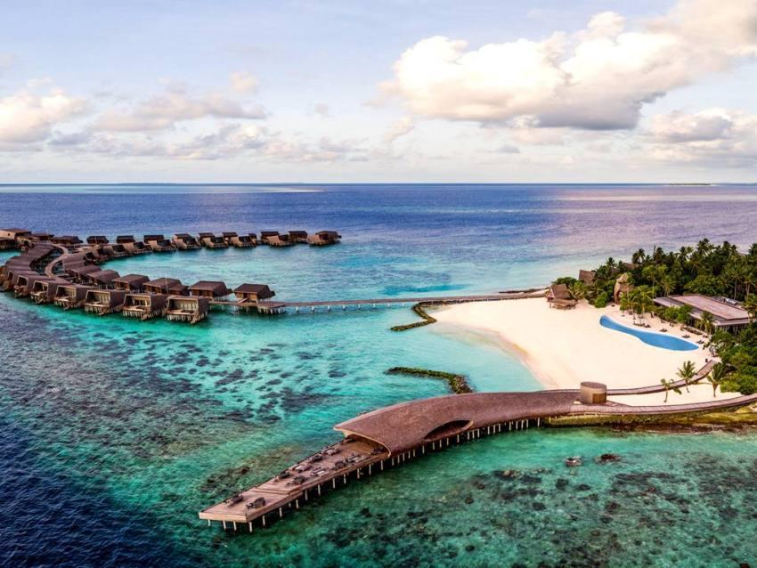 沃木里瑞吉度假 The St. Regis Maldives Vommuli Resort 鸟瞰地图birdview map清晰版 马尔代夫